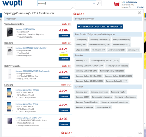 QuickSearch øger konverteringen på wupti.com